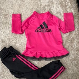 Girly Adidas workout outfit